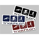 Aufkleber Triathlon