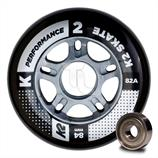 K2 Performance Wheel 84mm Inline-Rollen 30B3010 8-Pack