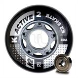 K2 Active Wheel 8-Pack 72mm Inline-Rollen 30B3007
