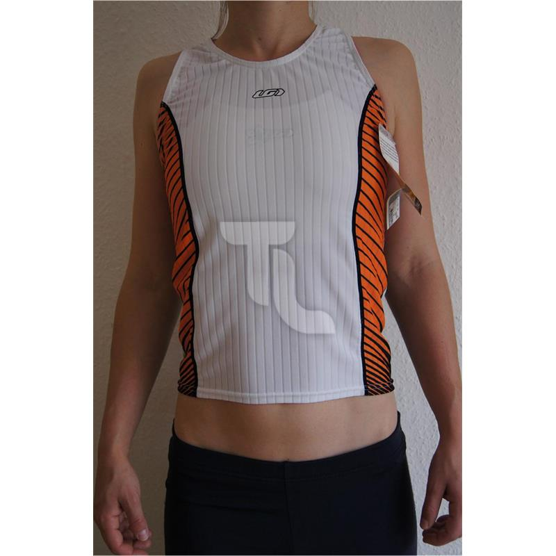 Louis Garneau Pro Tank Top Damen weiß/orange