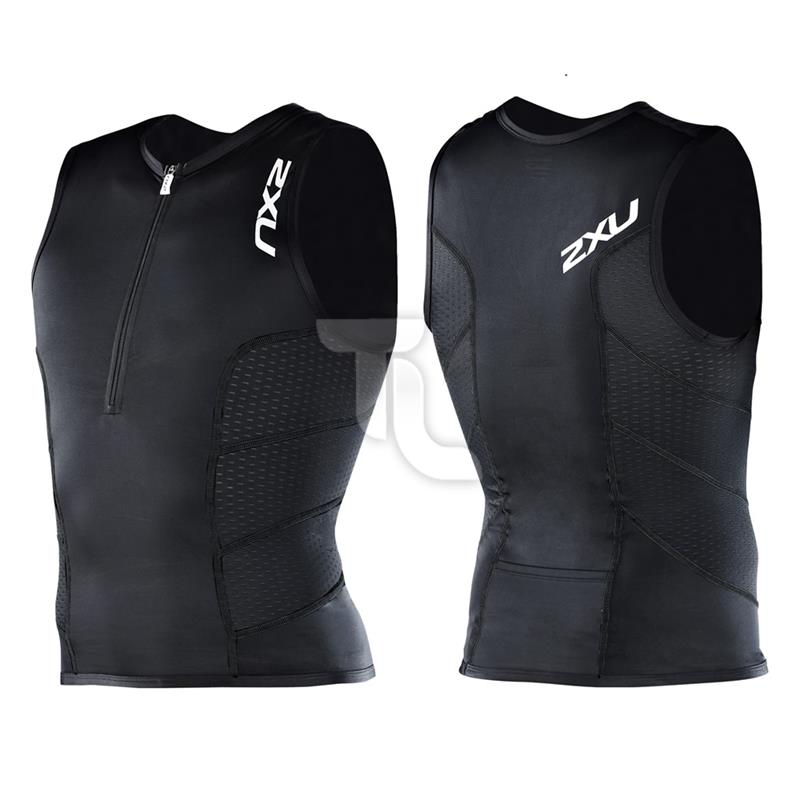 Pic_B:2xu Mens Comp Tri Singlet Top MT1838a