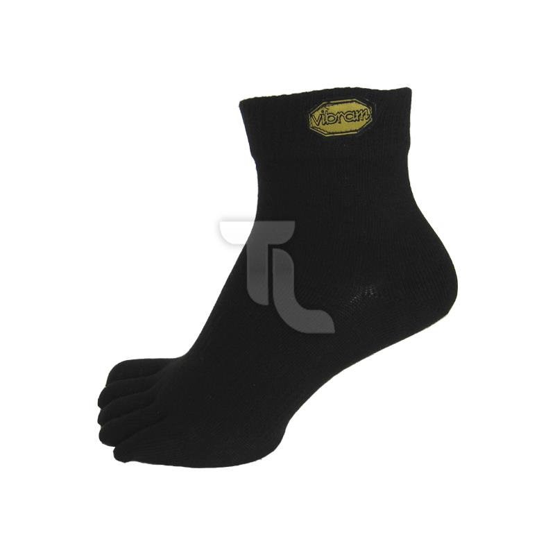 Pic_A:Vibram Five Fingers  Mid Black Zehensocken