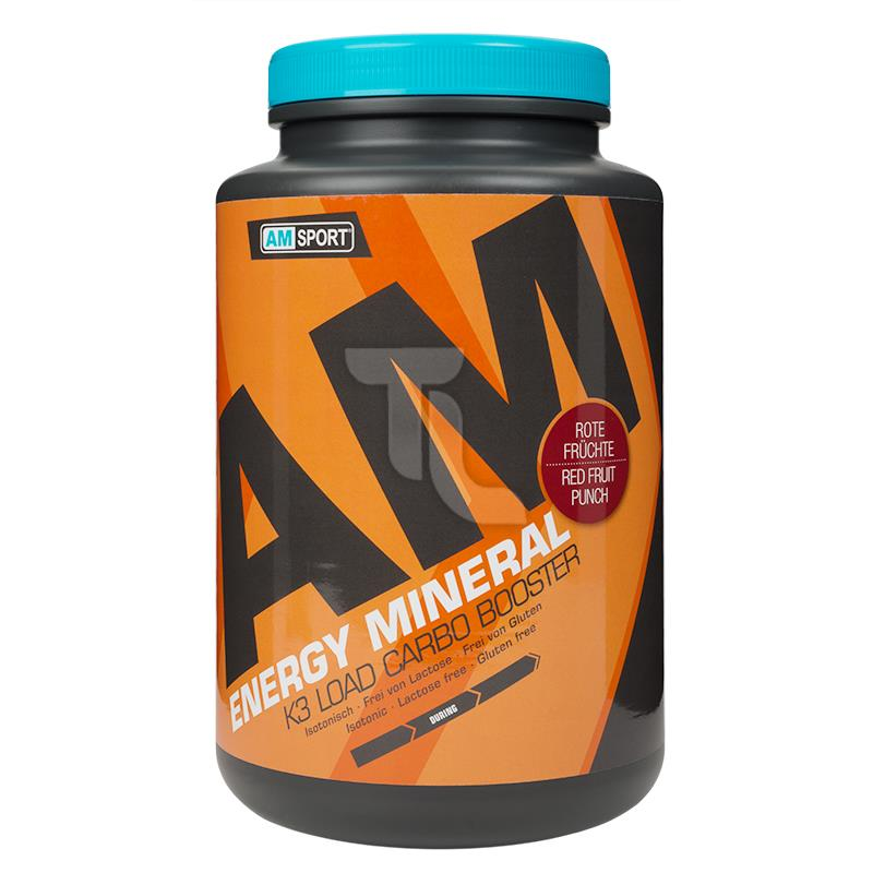 Pic_A:17,62€/1kg AMSport Energy Mineral Isotonic 1700g Dose rote Früchte