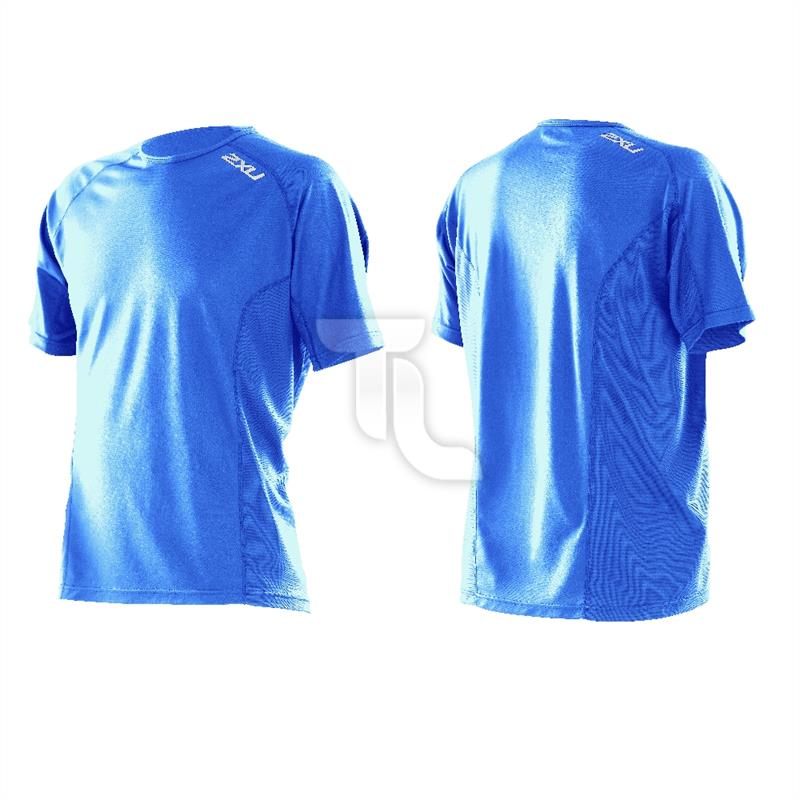 Pic_A:2xu Men's active Run top MR2311a Laufshirt blau