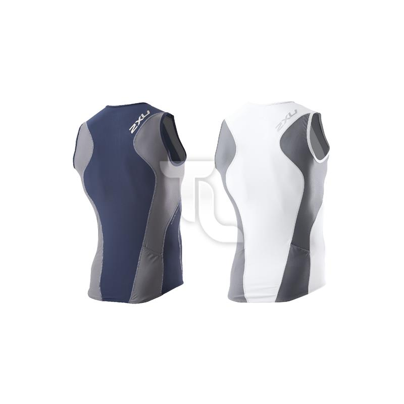 Pic_B:2xu Mens Long Distance Tri Singlet Top MT2123a