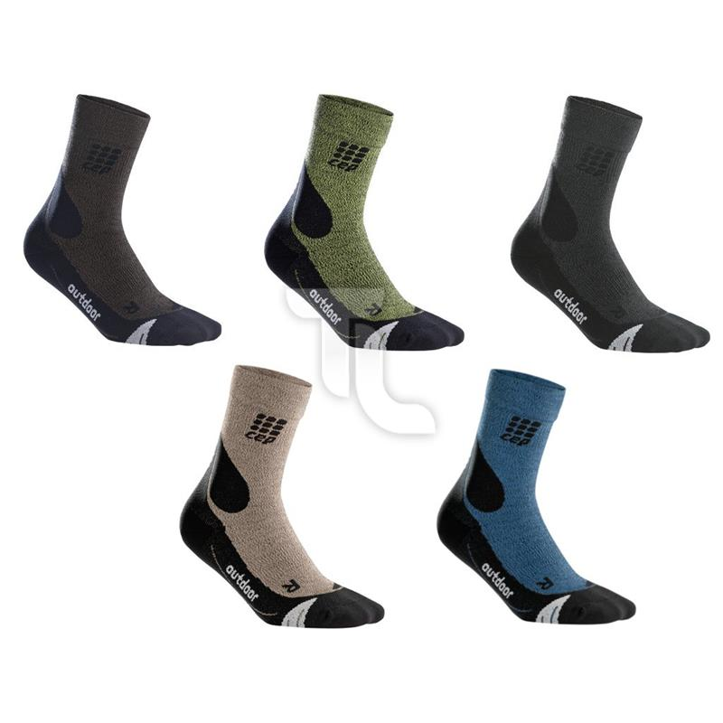 Pic_A:CEP Dynamic+ Outdoor Merino Mid-Cut Socken (Kompression)