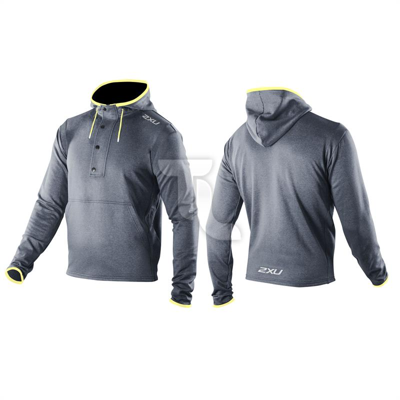 Pic_A:2xu Men's Recovery Jacket MR2197 dunkelgrau/gelb