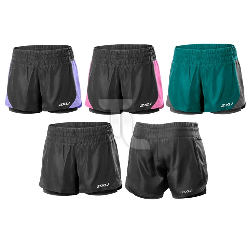 Pic_A:2xu Womens Pace Compression Short Run WR3167b