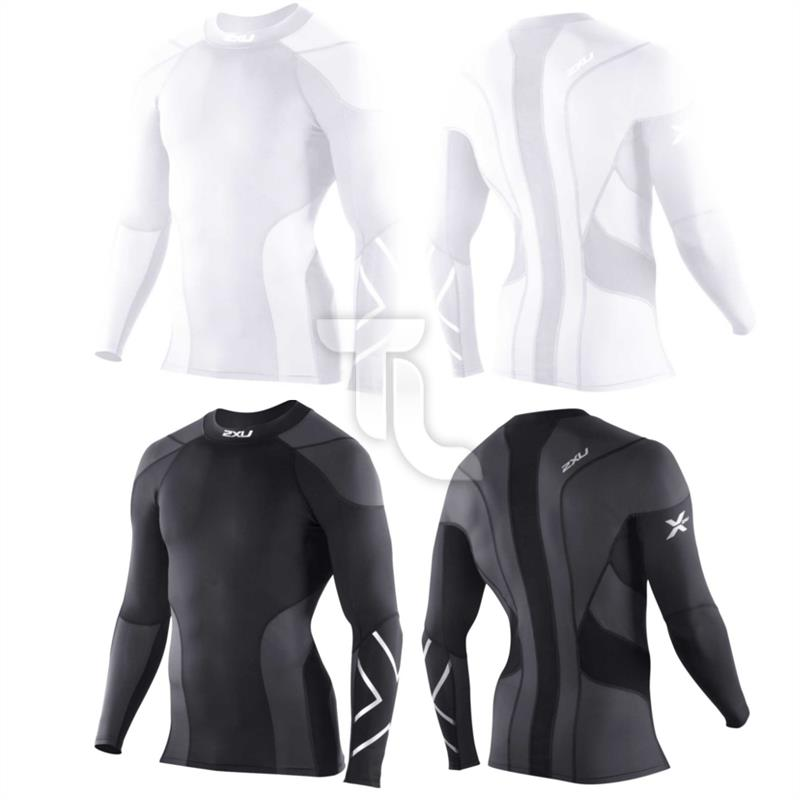 Pic_A:2xu Mens Elite Golf Compression Longsleeve MA1964aHerren