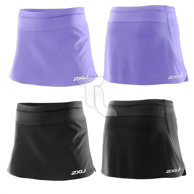 Pic_A:2xu Womens Core Skirt WR3179b Run Damen