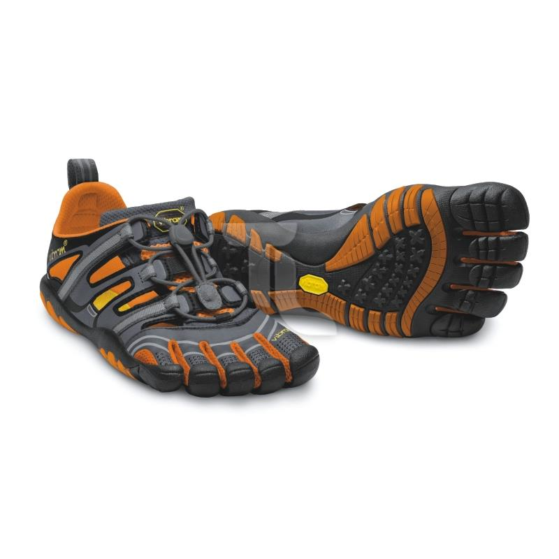 Pic_A:Vibram Five Fingers Treksport Sandal 14W-4301/Grey/Orange Damen