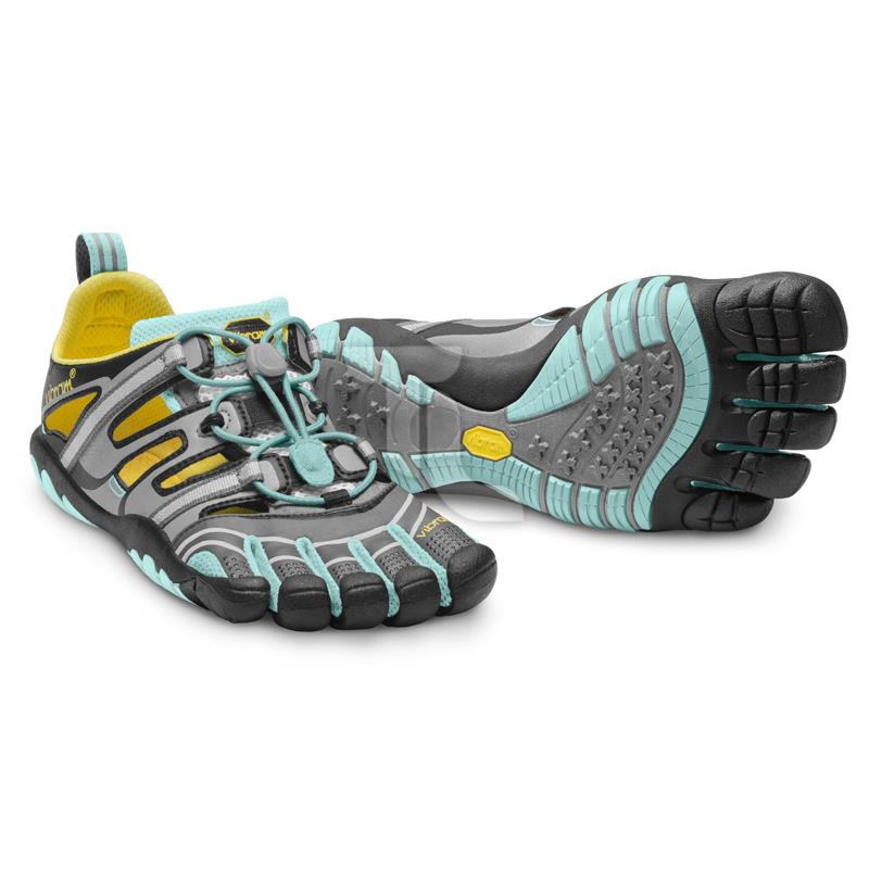 Pic_A:Vibram Five Fingers Treksport Sandal 13W-4304 Grey/Aqua/Black