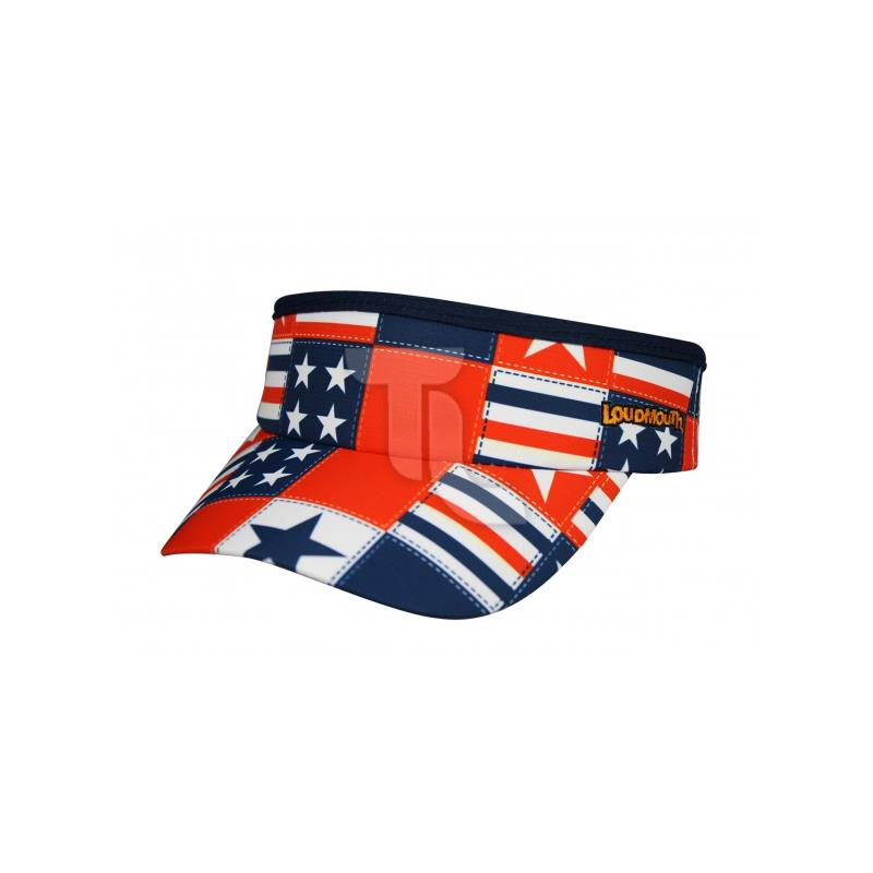 Pic_A:Headsweats Visor Loudmouth 1703-401s Betsy Ross HSLSV-BR