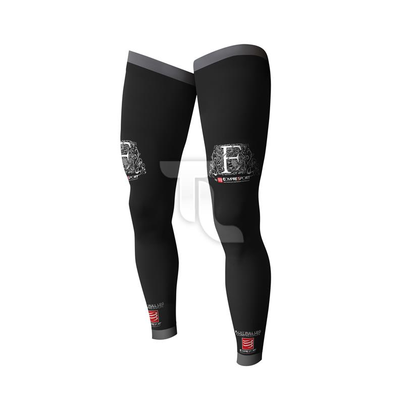Pic_A:Compressport Full Legs Black Kompressionsstulpe