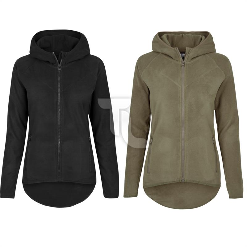 Urban Classics Ladies Polar Fleece Zipp Hoody TB1728 Kapuzenpulli