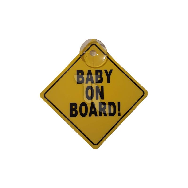 1x Baby on Board Schild mit Saugknopf