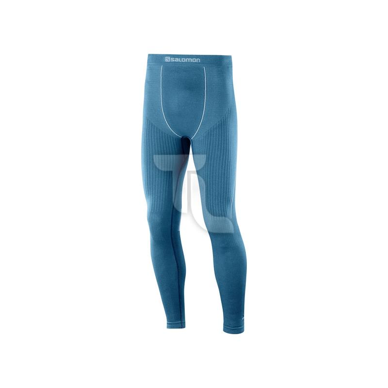 Pic_A:Salomon PRIMO Warm Tight Laufhose Herren L40392500 blau