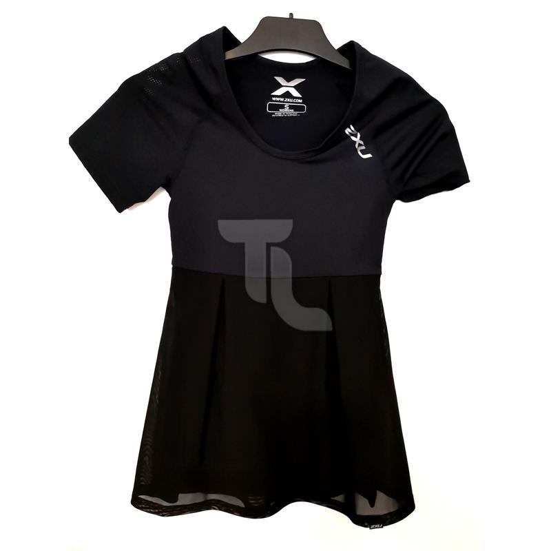 Pic_A:2xu Double Lyr Comp Shortsleeve Top Damen WA3017 schwarz