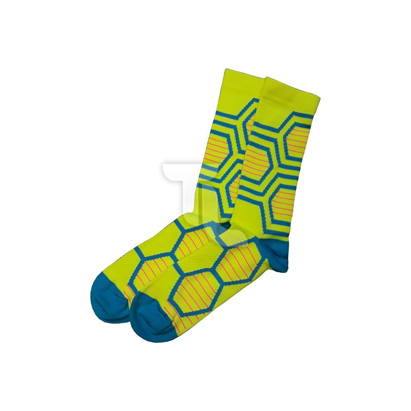 Pic_A:Kompressionssocken Compression Socken gelb/ blau
