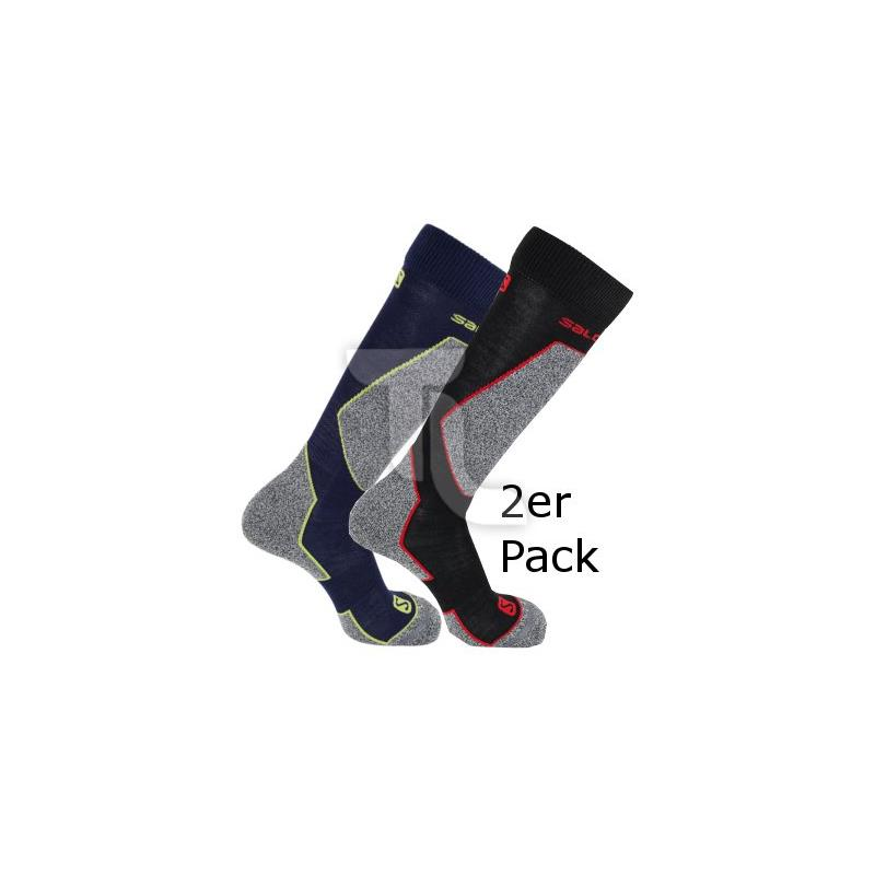 Pic_A:2er Pack Salomon Ski Tech Socken EU 45-47
